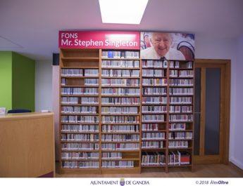 Més de 2.400 CDs conformen la col•lecció de música que Stephen Singleton deixa com a llegat a la ciutat de Gandia