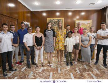 Reconeixement als esportistes del Atlètic Club d'Halterofilia de Gandia
