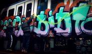 Los grafiteros de Madrid y Barcelona se retaron para pintar más vagones en menos tiempo