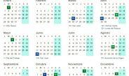 Calendario laboral de 2019 Oficial
