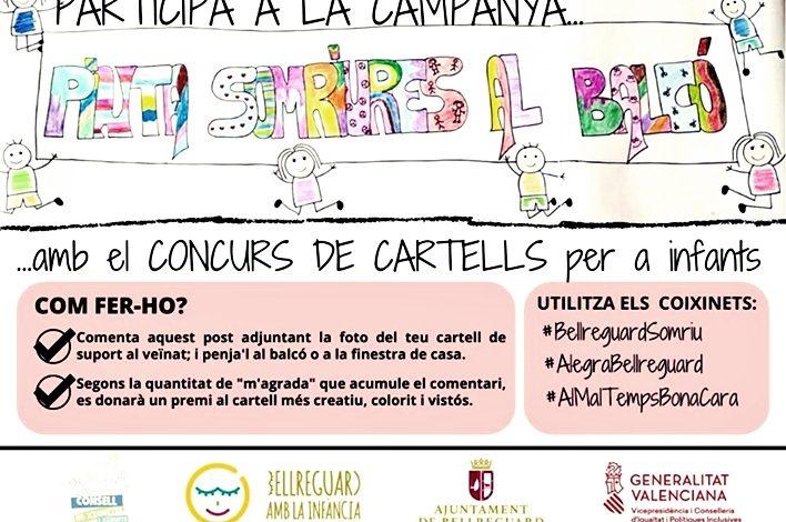 Bellreguard: El Consell de Xiquetes i Xiquets organitza un concurs de cartells d'ànims per a penjar als balcons