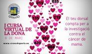 Xeraco organiza la I Carrera virtual de la Mujer para colaborar con la lucha contra el cáncer de mama